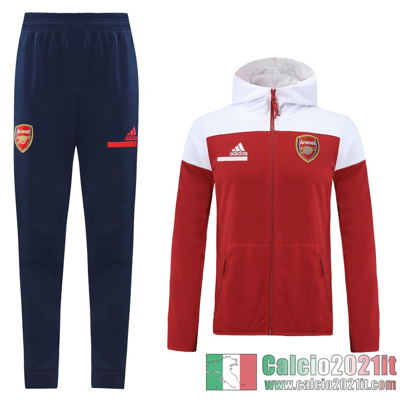 Arsenal Full-Zip Giacca Cappuccio red 2020 2021 J132
