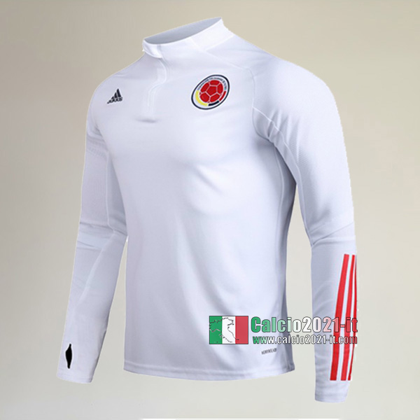 Track Top| Nuova Del Colombia Felpa Sportswear Bianca Authentic 2020-2021