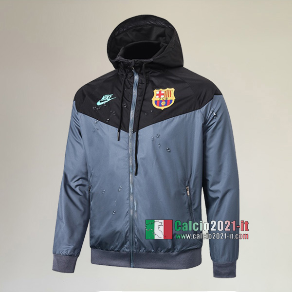 La Nuove FC Barcellona Full-Zip Giacca Antivento Nera Originale 2020/2021