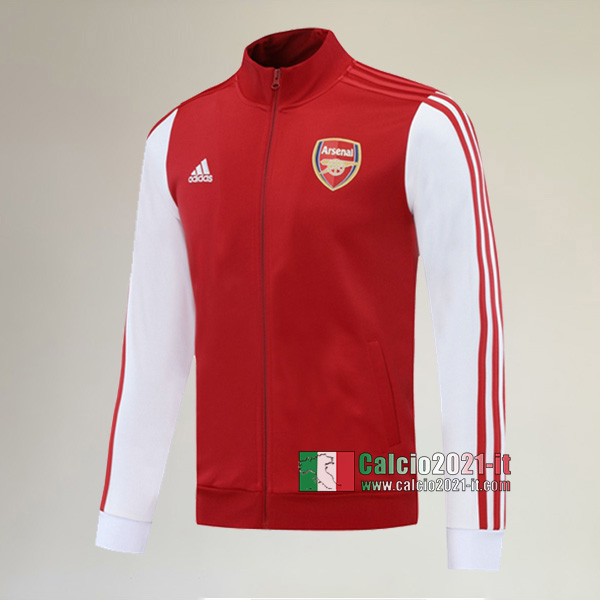 Nuova Del Arsenal Full-Zip Giacca Rossa Bianca Replica 2020/2021 :Calcio2021-it