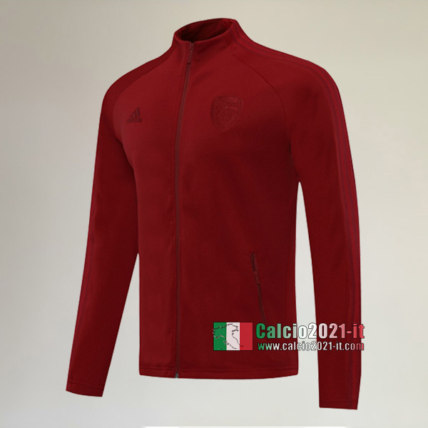 Nuove Del Arsenal Full-Zip Giacca Scarlatto Originali 2020/2021 :Calcio2021-it
