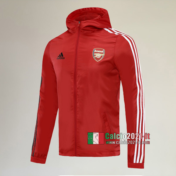 La Nuova Arsenal Full-Zip Giacca Antivento Rossa Vintage 2020/2021 :Calcio2021-it