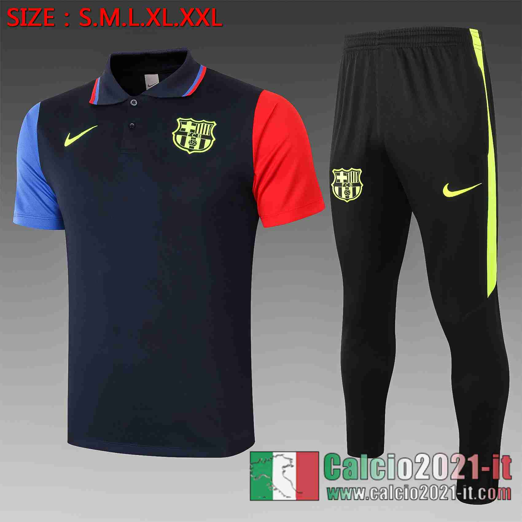 Barcellona Polo Calcio Blu scuro 2020 2021 C565