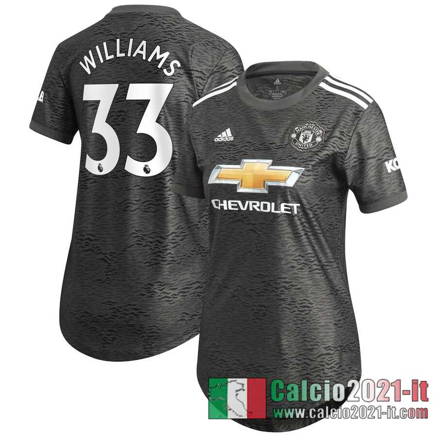 Manchester United Maglia Calcio Williams 33 Seconda Donna 2020-21