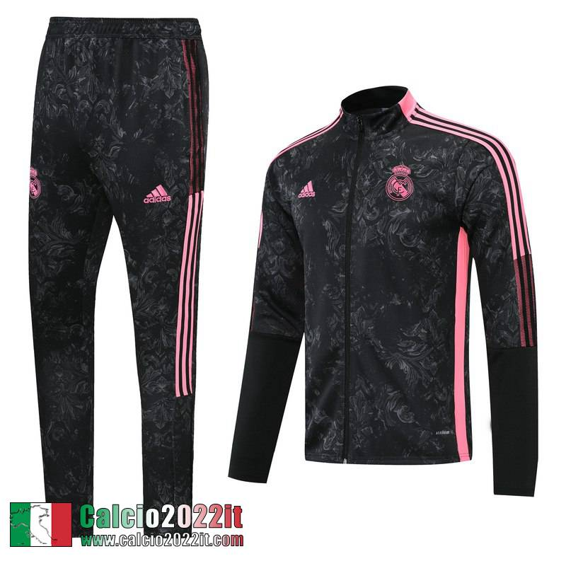 Real Madrid Full-Zip Giacca Nera Jk19 2021 2022